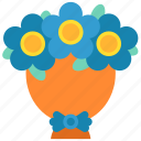 birthday, bouquet, decoration, floral, flower, flowers, show icon