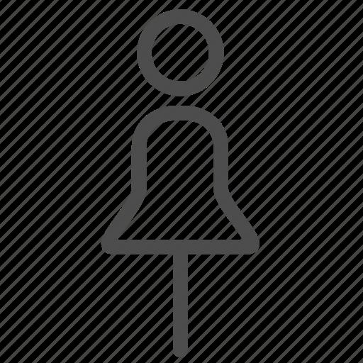 female, girl, human, sex, sign, toilet, woman icon