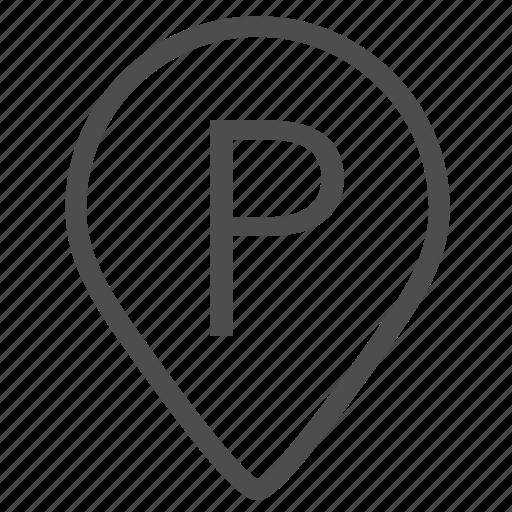 car, car park, city, park, parking, parking sign, urban icon
