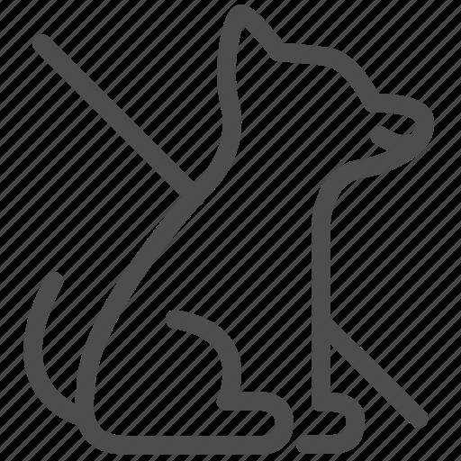 animal, dog, forbidden, no pet, pet, sign icon