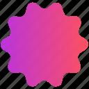 badge, label, shape, sign, sticker