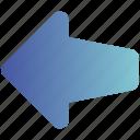 arrow, direction, forward, left, sign