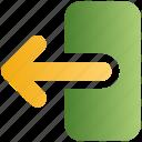 arrow, exit, left, logout, out, sign