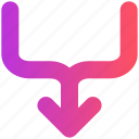 arrow, direction, road, sign, way
