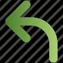 arrow, direction, left, navigation, sign