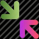 arrow, direction, navigation, sign