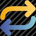 arrow, direction, loop, sign