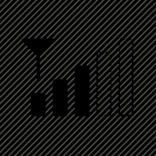 antenna, mobile signal, signal, signal bars, signal level, signal strength icon