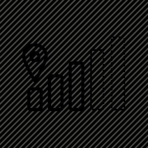 gps, gps signal, mobile signal, signal, signal bars, signal level icon