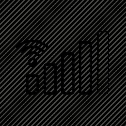 mobile signal, signal, signal bars, wi fi, wifi signal icon