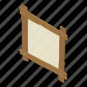 board, isometric, logo, notice, object, signpost, wooden