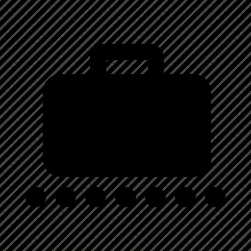 baggage, baggage carousel, baggage claim, belt, convener belt, luggage, pick up icon