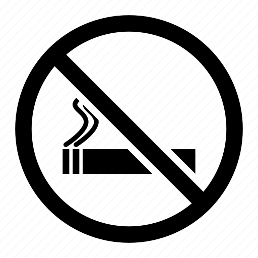 cigarette, no smoking, not allowed, prohibited, punishable, restricted icon