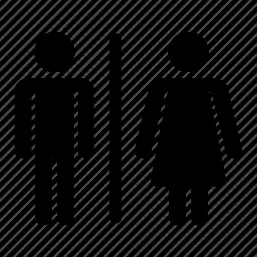 female, gents, ladies, male, restroom, toilet, washroom icon