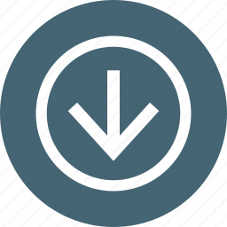 arrow, down, download, downloads, guardar, save icon