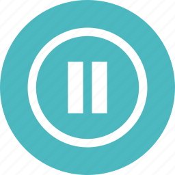 arrow, pause icon