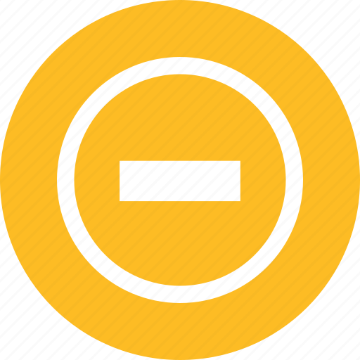 arrow, minus icon