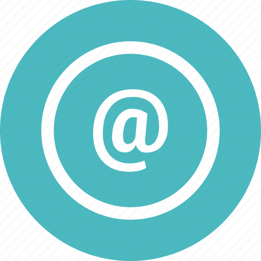 address, at, contact, email icon