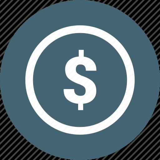 dollar, dollar sign, money icon