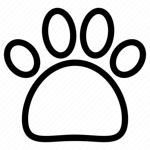 creative, grid, objects, paw, pet, shape, sign, trace, track, trail icon