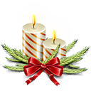 candles, christmas icon