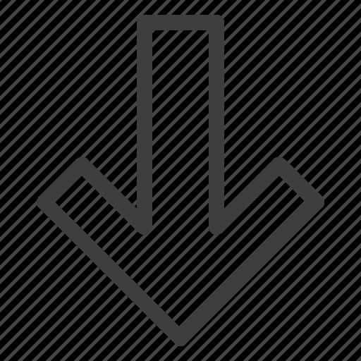 arrow, arrows, direction, down, download icon