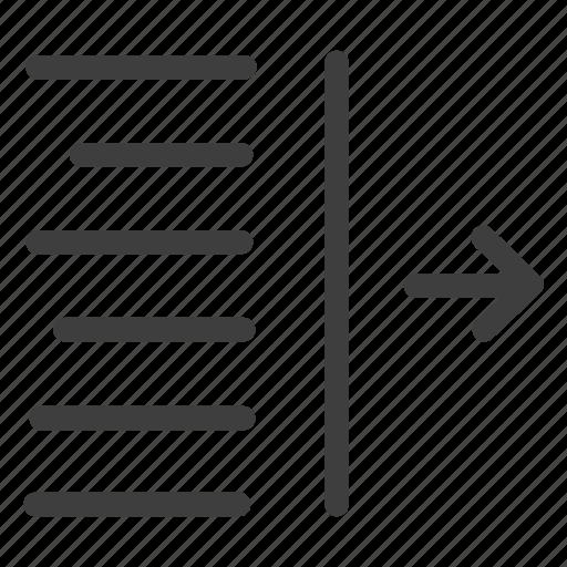 align, alignment, indent, left icon