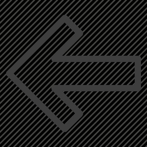 arrow, arrows, back, direction, left icon