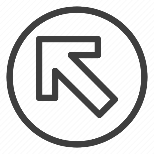 arrow, arrows, direction, left3, upper icon