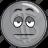 bullion, cartoon, coin, emoji, silver, smiley icon