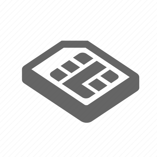 card, cellphone, cellular, chip, mobile, sim, technology icon