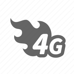 fast, fire, internet, mobile, technology, wave, wireless icon