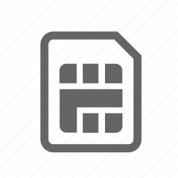 card, cellphone, cellular, chip, mobile, phone, sim icon