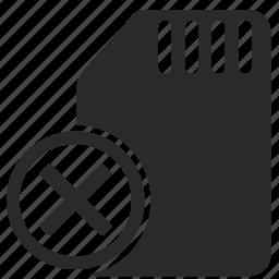 block, cancel, close, mobile, number, phone, sim icon