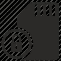 lock, locked, moblie, phone, sim icon
