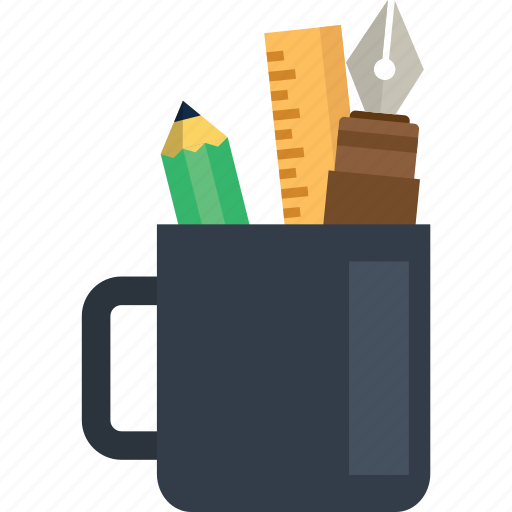 cup, design, drawing, education, painting, study, tools icon