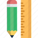 design, drafting, drawing, painting, pen, pencil, ruler icon