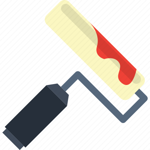 brush, design, paint, roller, tool icon