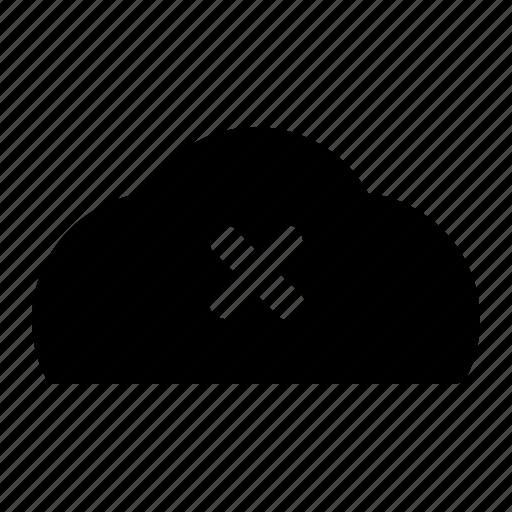 closed, clouds, dead icon