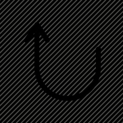 around, arrow, direction, route, sign, u turn, way icon
