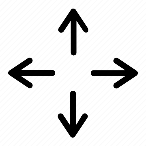 arrow, direction, expand, full screen, fullscreen, sign, way icon