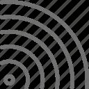 hotspot, signal, wave icon