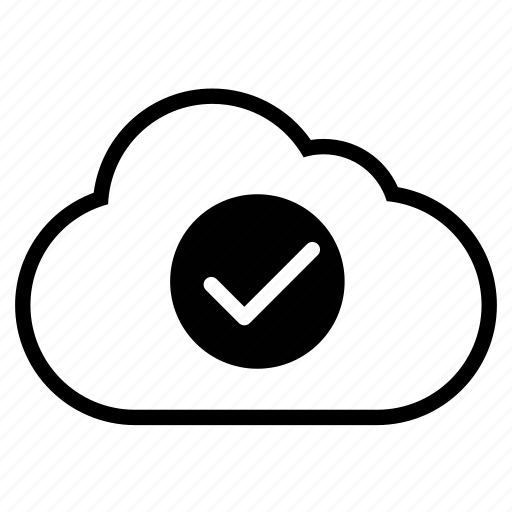 accept, approve, check, cloud, line, ok, yes icon