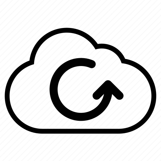 backup, cloud, line icon