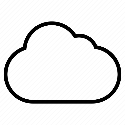 blank cloud line icon