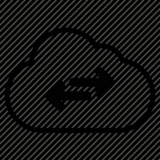cloud, cross, line, lineoutline icon