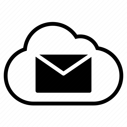 cloud, email, envelope, line, mail icon