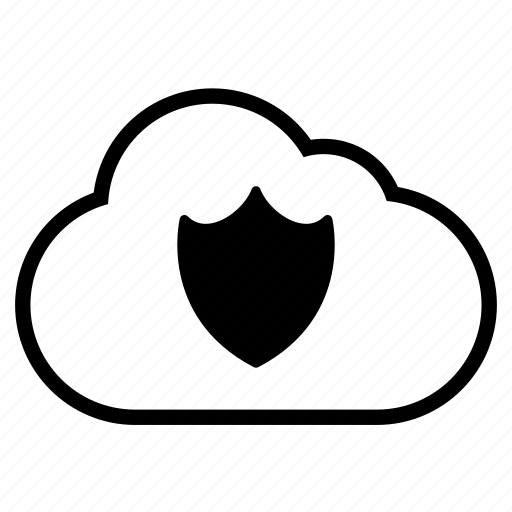 cloud, clouds, cover, line, lock, password, private, protect, protection, secure, security, shield icon