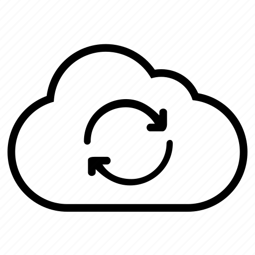 Cloud, line, refresh, reload, sync icon - Download on Iconfinder