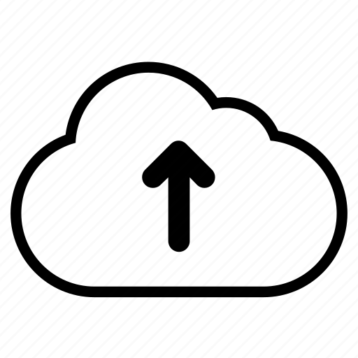 cloud, line, up, upload icon